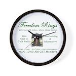 Freedom Rings Wall Clock