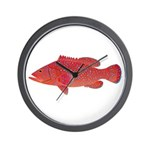Coral Hind Grouper Wall Clock