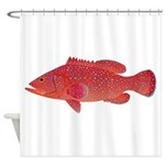 Coral Hind Grouper Shower Curtain