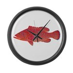 Coral Hind Grouper Large Wall Clock
