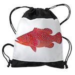 Coral Hind Grouper Drawstring Bag