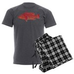 Coral Hind Grouper Men's Charcoal Pajamas