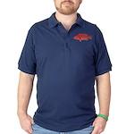 Coral Hind Grouper Dark Polo Shirt