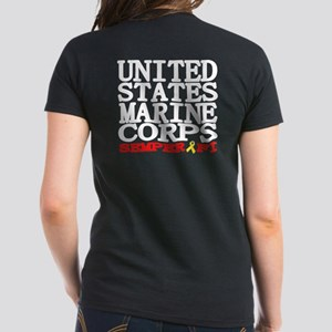 USMC Semper Fi Women's Dark T-Shirt