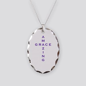 Amazing Grace Necklace Oval Charm