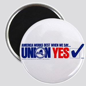 "Union Yes 2.25"" Magnet (100 pack)"