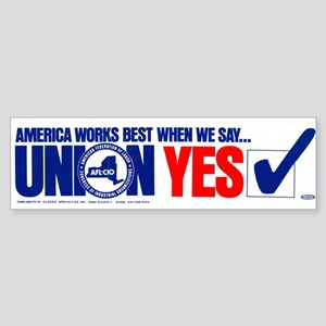 Union Yes Sticker (Bumper)