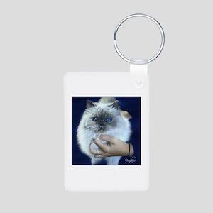 Himalayan Blue Aluminum Photo Keychain