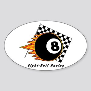 Eight Ball Racing Sticker (Oval)
