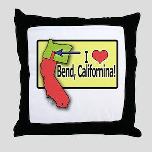 I love Bend, California Throw Pillow