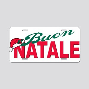 Buon natale Aluminum License Plate