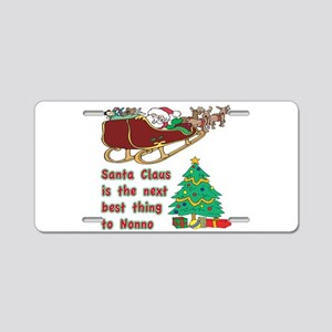 Santa claus vs Nonno Aluminum License Plate