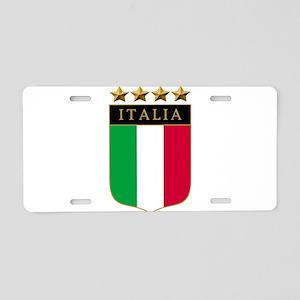 Italian 4 Star flag Aluminum License Plate