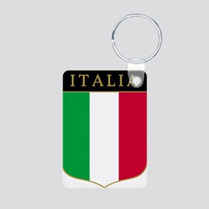 Italia Aluminum Photo Keychain