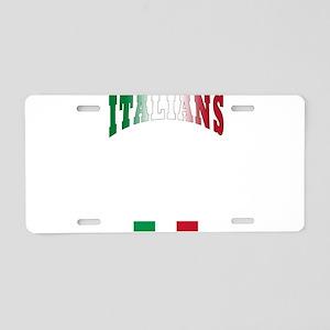 Italians Rules Aluminum License Plate