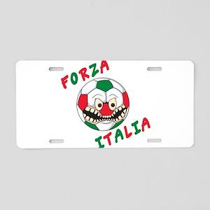 Forza Italia Aluminum License Plate