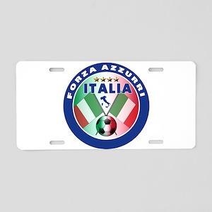 Italian Forza Azzurri Aluminum License Plate