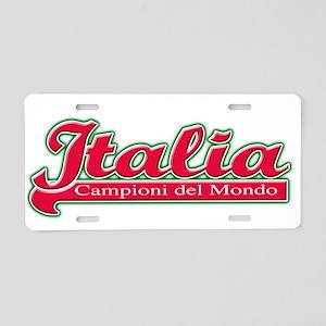 Italia Campioni del mondoWear Aluminum License Pla