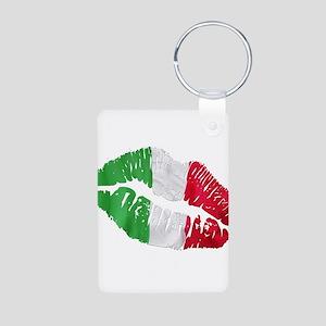 Italian kiss Aluminum Photo Keychain