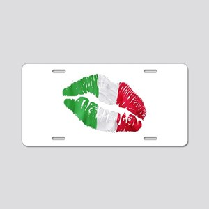 Italian kiss Aluminum License Plate