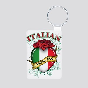 Italian Princess Aluminum Photo Keychain