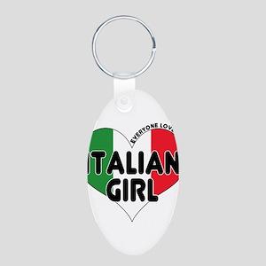 Everyone Loves an Italian Gir Aluminum Oval Keycha