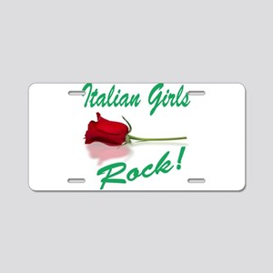 Italian Girls Aluminum License Plate