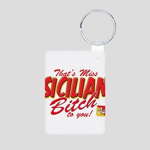 Sicilian Bitch Aluminum Photo Keychain