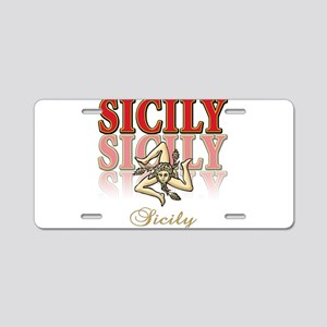 sicily Aluminum License Plate