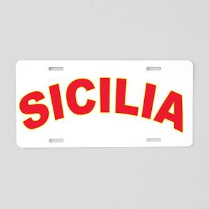 SICILIA Aluminum License Plate