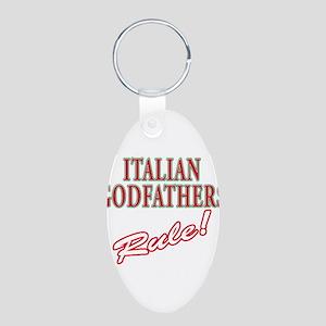 Italian Godfathers Aluminum Oval Keychain