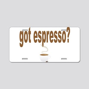 got espresso Aluminum License Plate