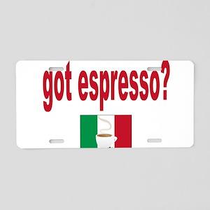got espresso Aluminum License Plate