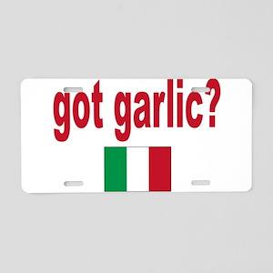 got garlic? Aluminum License Plate