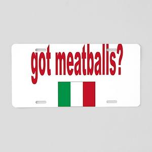 got meatballs Aluminum License Plate