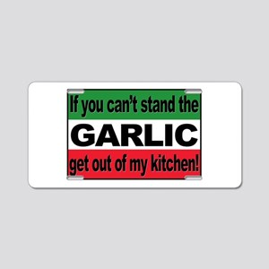 Garlic Aluminum License Plate