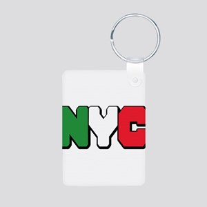New York Italian pride Aluminum Photo Keychain