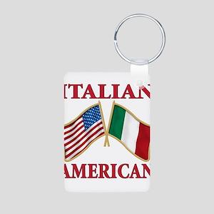 Italian american Pride Aluminum Photo Keychain