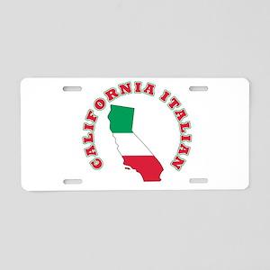 California Italian Aluminum License Plate