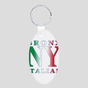 Bronx New york Italian Aluminum Oval Keychain