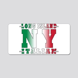 Long Island Italian Aluminum License Plate