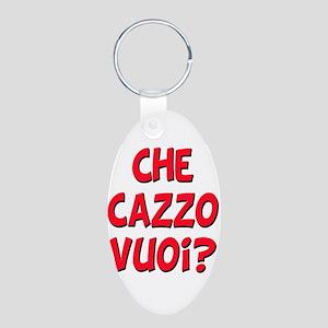 italian Che Cazzo Vuoi Aluminum Oval Keychain