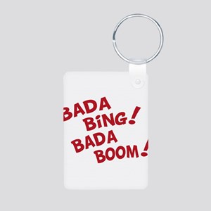 Bada Boom Aluminum Photo Keychain