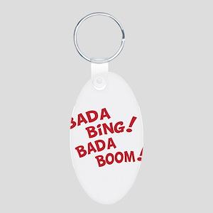 Bada Boom Aluminum Oval Keychain