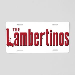 Lambertinos Aluminum License Plate
