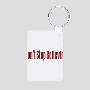 Don't stop believin Aluminum Photo Keychain
