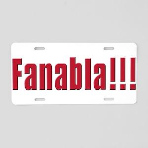Fanabla Aluminum License Plate