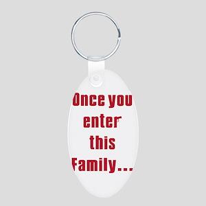 Soprano family Aluminum Oval Keychain