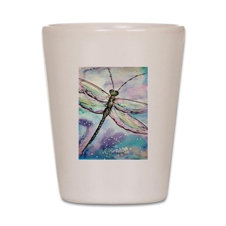 Dragonfly, colorful, Shot Glass