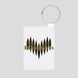 Kayak Heart Aluminum Photo Keychain